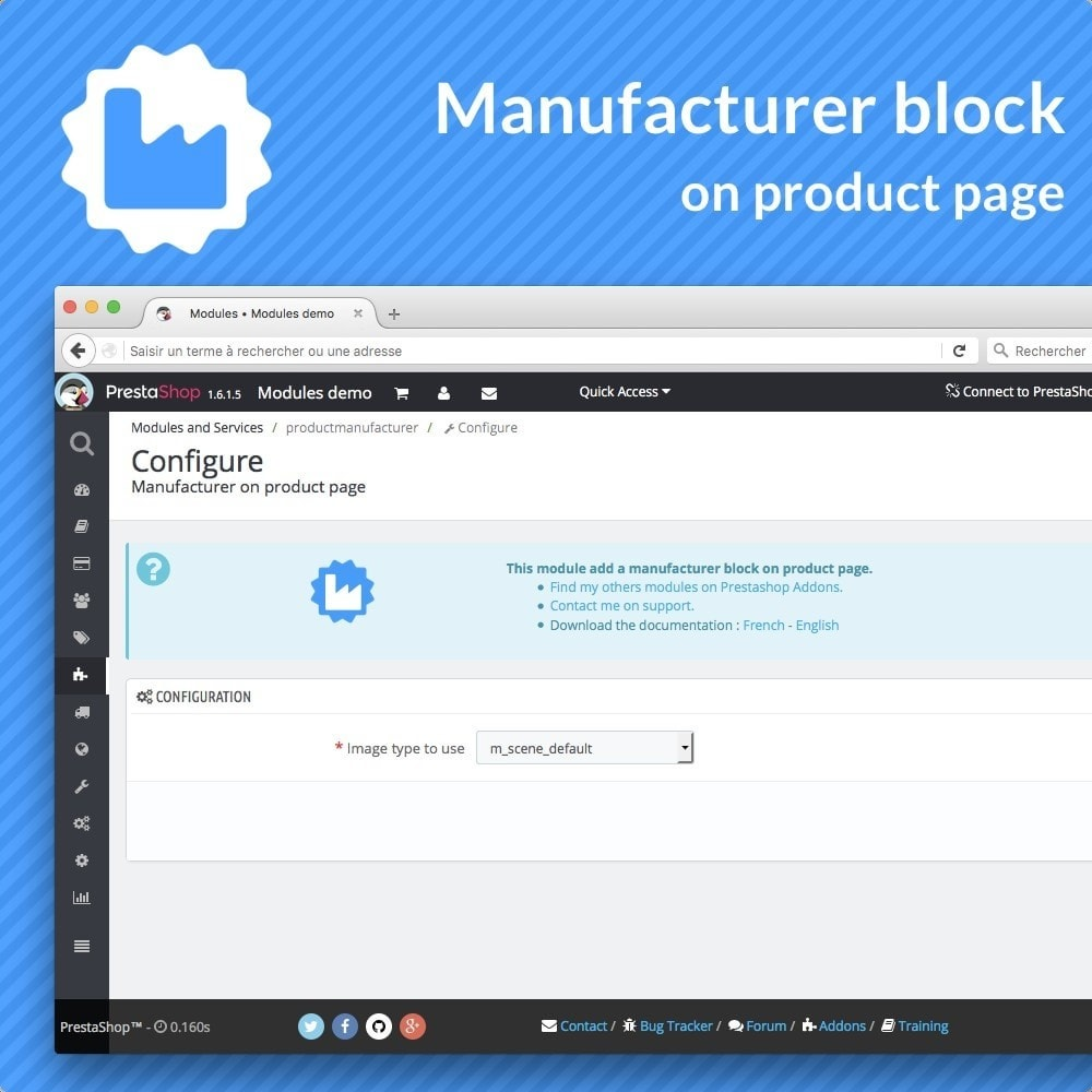 module - Altre informazioni & Product Tab - Manufacturer bloc on product pages - 2