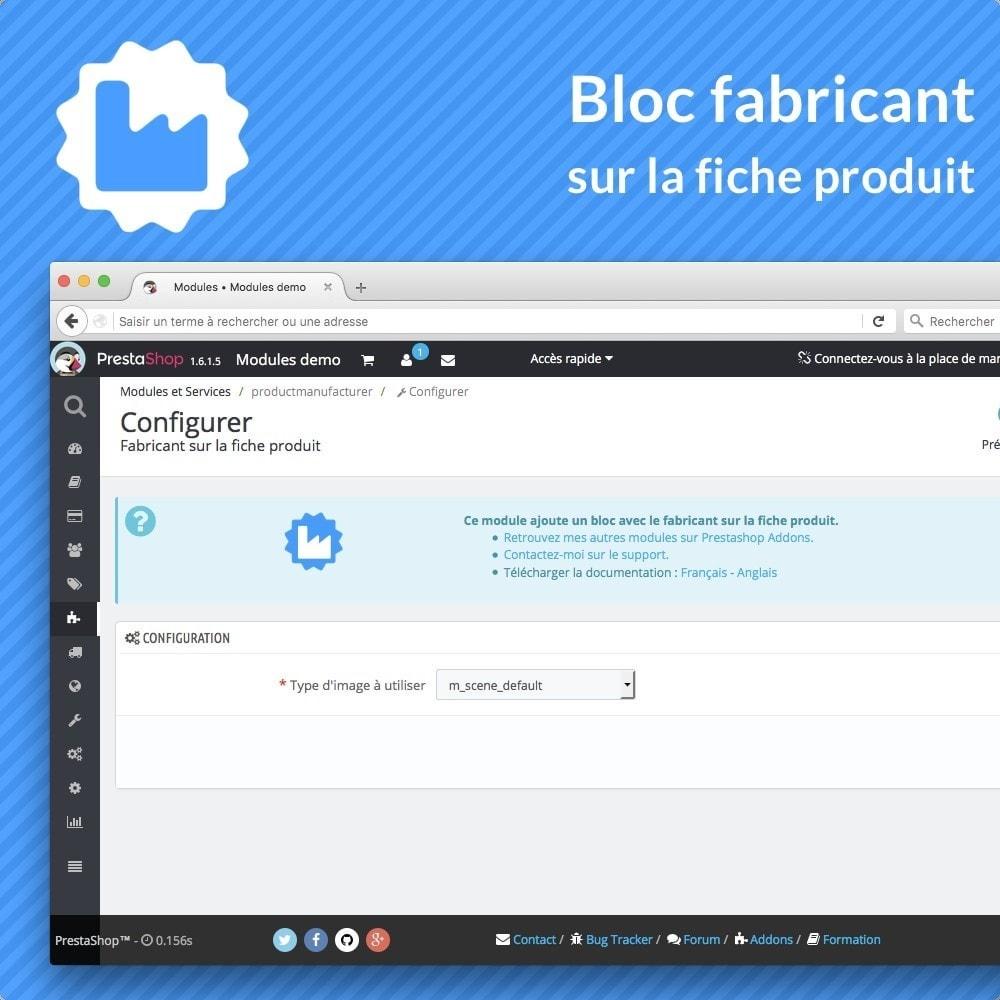 module - Information supplémentaire & Onglet produit - Bloc fabricant sur la fiche produit - 2