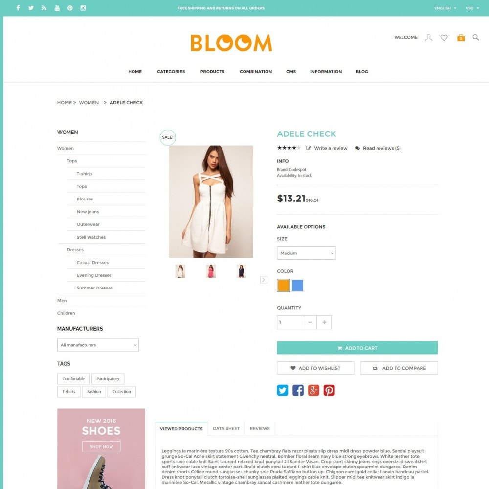 theme - Fashion & Shoes - Bloom | Clothing Fashion Store - 5