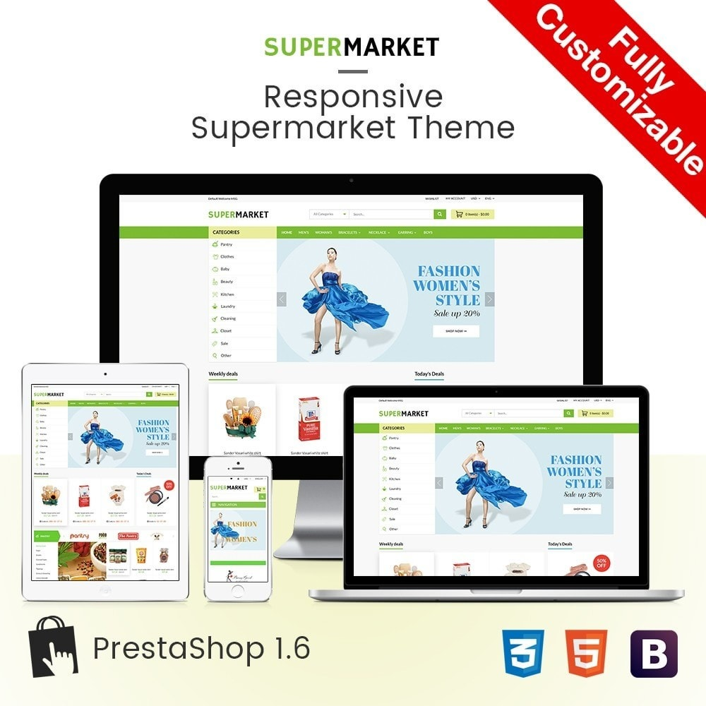 theme - Saúde & Beleza - SuperMarket | Bio Medical Fashion Baby Beauty Store - 1