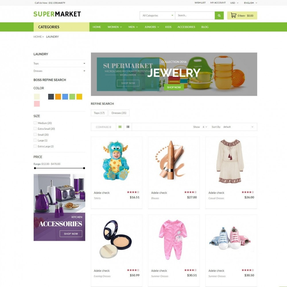 theme - Saúde & Beleza - SuperMarket | Bio Medical Fashion Baby Beauty Store - 3