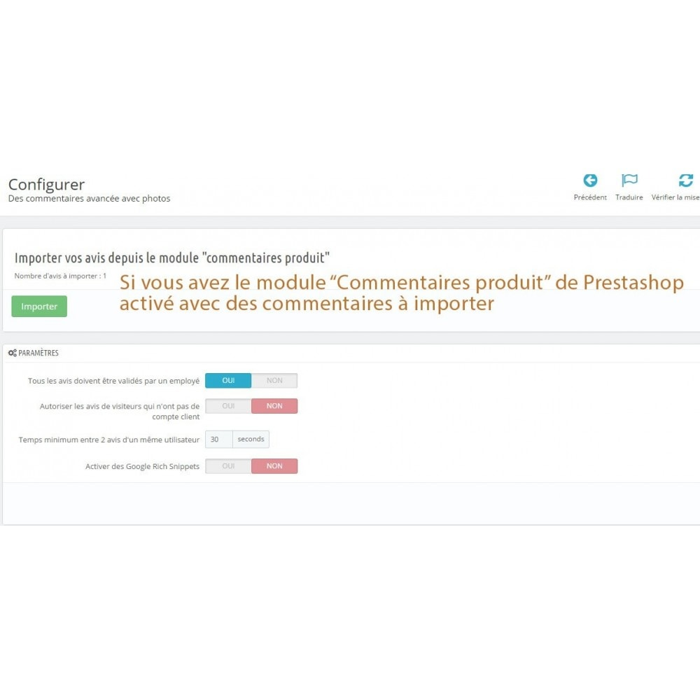 module - Avis clients - Commentaires avancés avec photos + Google rich snippets - 9