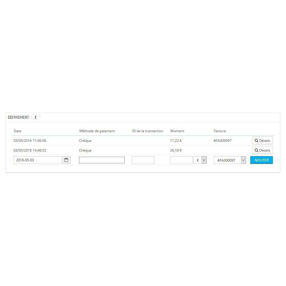 module - Autres moyens de paiement - Module d'acompte avec facture d'acompte - 8