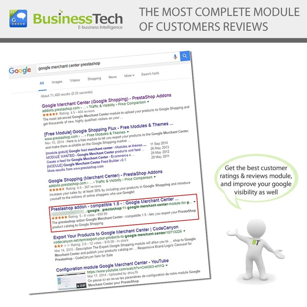 module - SEO (Posicionamiento en buscadores) - Customer Ratings and Reviews Pro + Google Rich Snippets - 3