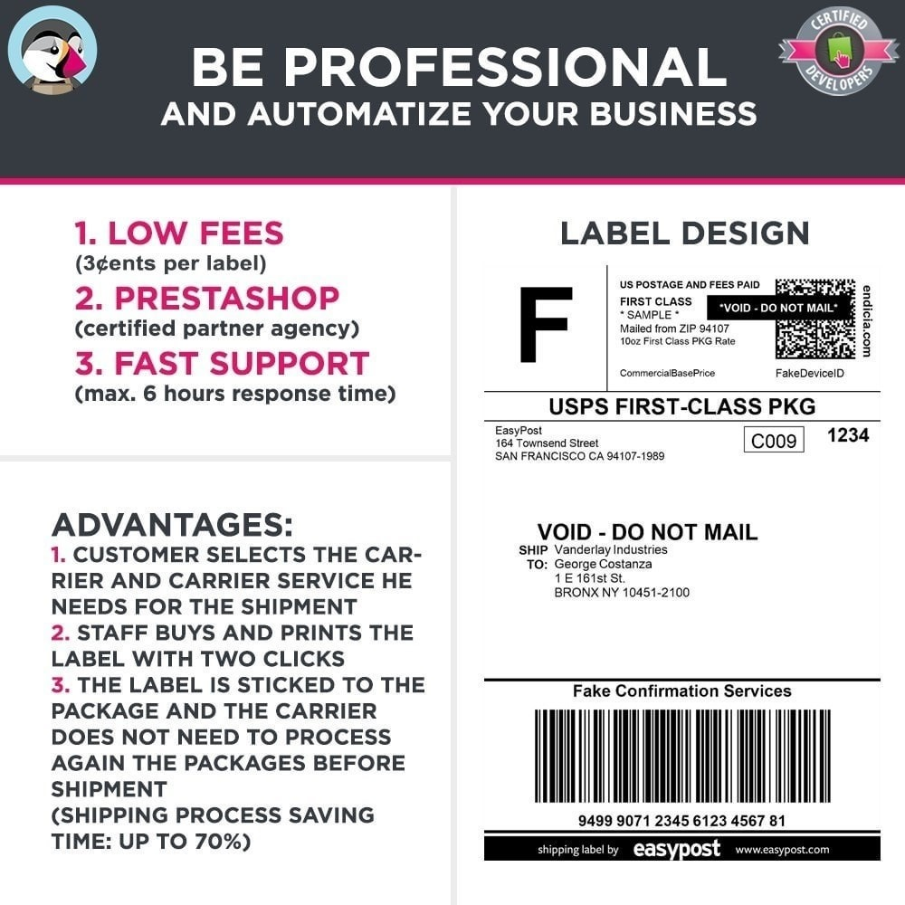 module - Préparation & Expédition - Easy Post Pro (DHL, GLS, DPD, Colissimo, RoyalMail etc) - 8