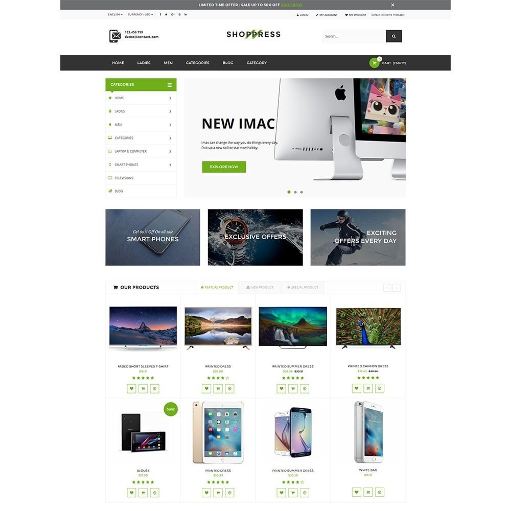 theme - Electronics & Computers - Shoppress Market Premium - 5