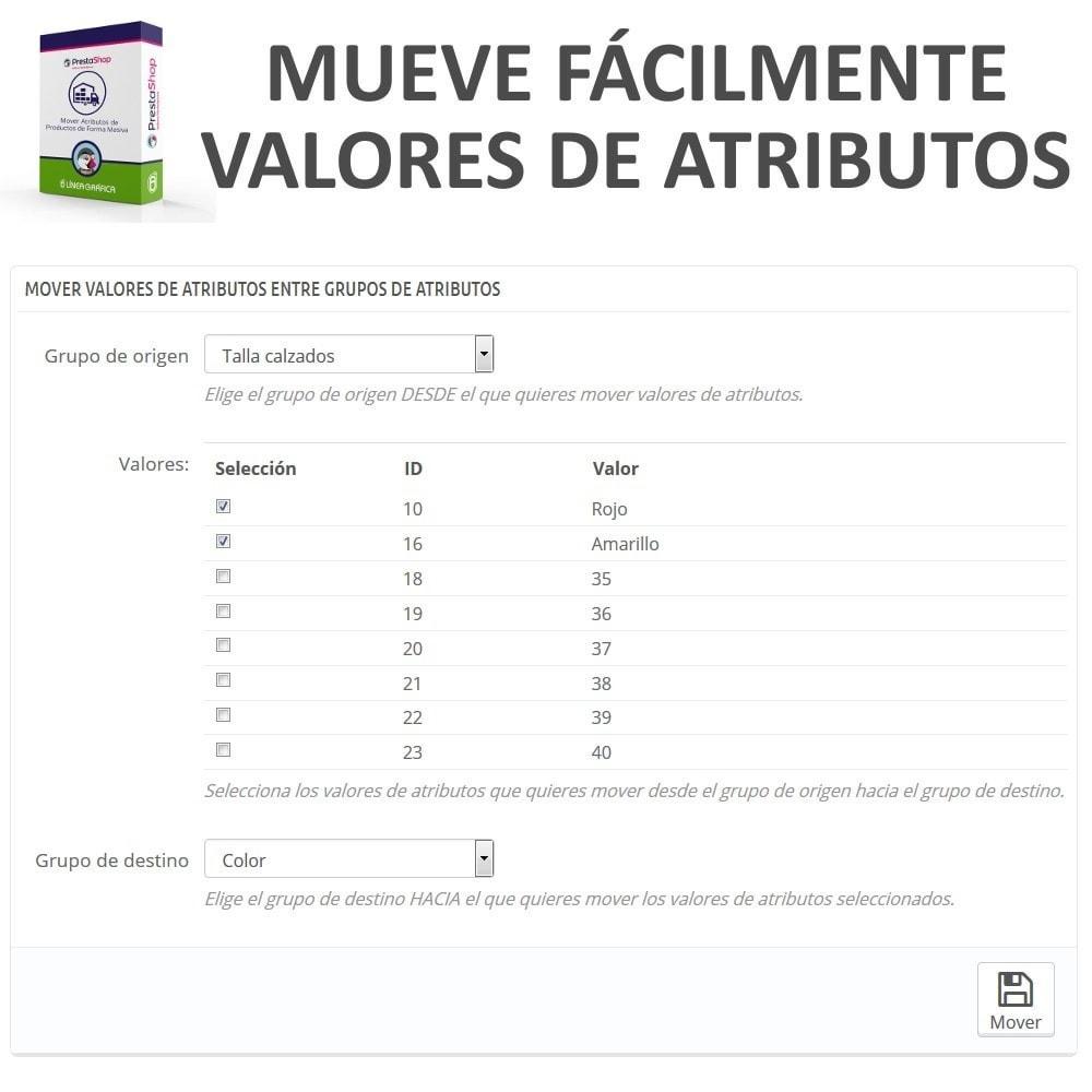module - Edición Rápida y Masiva - Mover Valores de Atributos entre Grupos de Atributos - 2