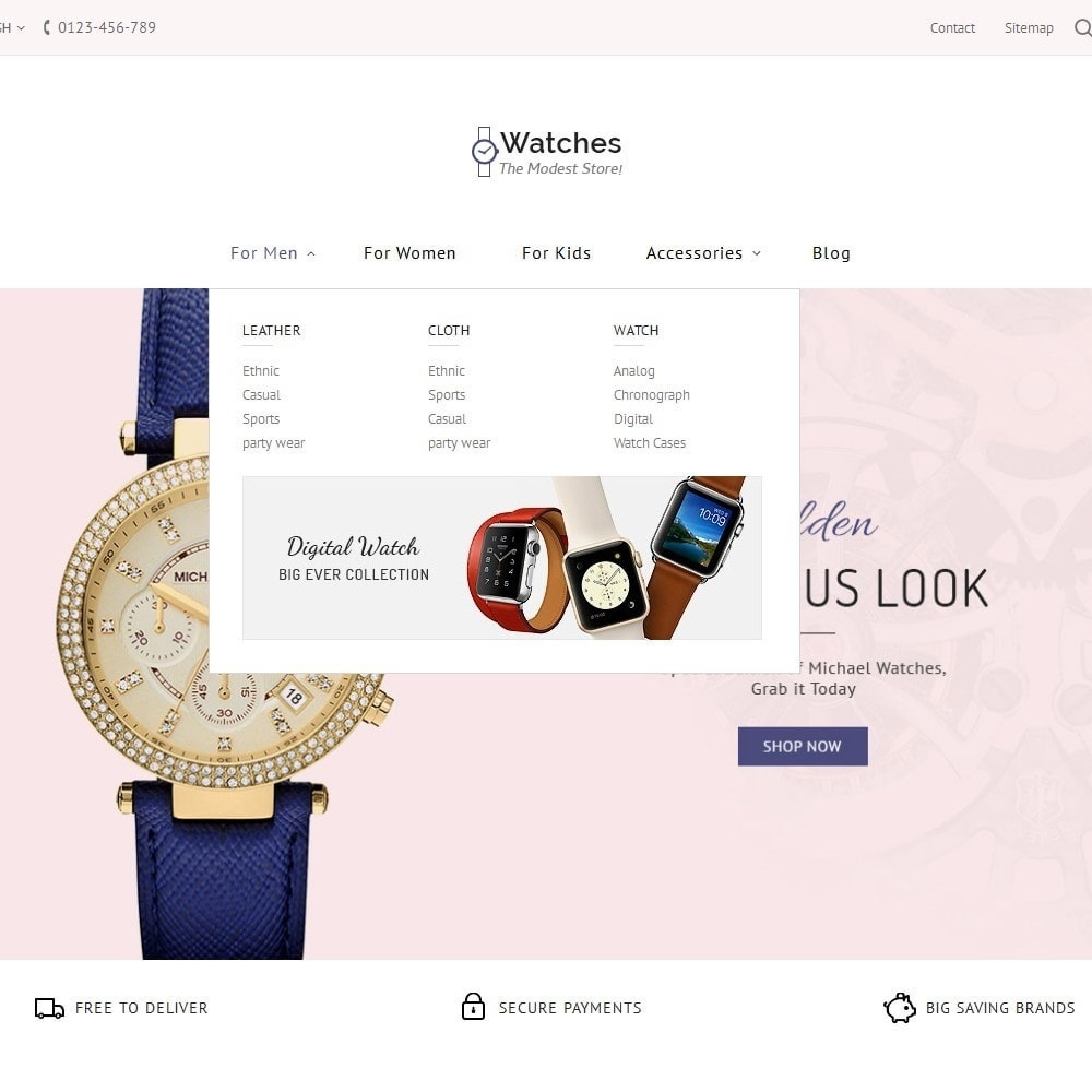 theme - Schmuck & Accesoires - Watch Store - 7