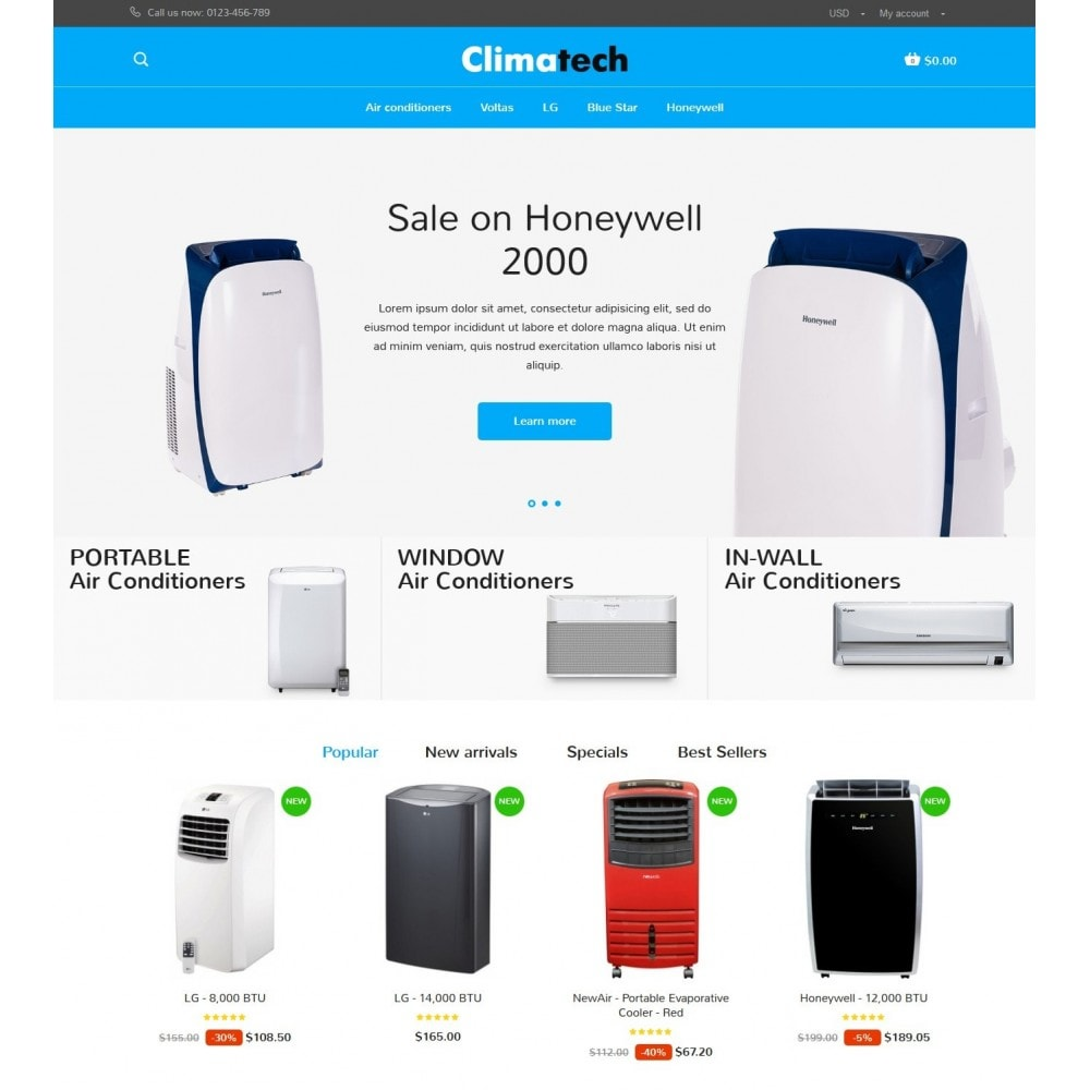 theme - Elektronica & High Tech - Climatech Store - 2