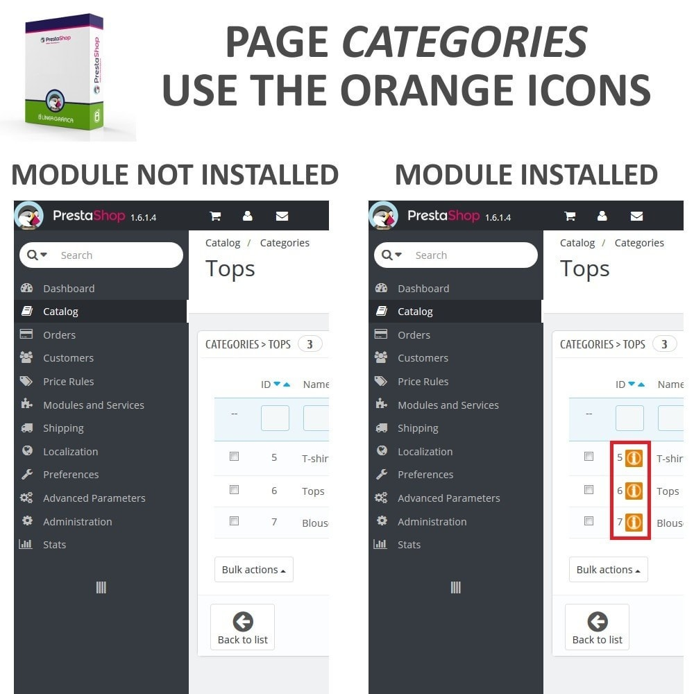module - Fast & Mass Update - Fast Access to Category Details - Quick View / Overview - 2