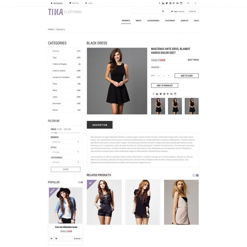 theme - Mode & Schoenen - Tina - Kleding Winkel - 4