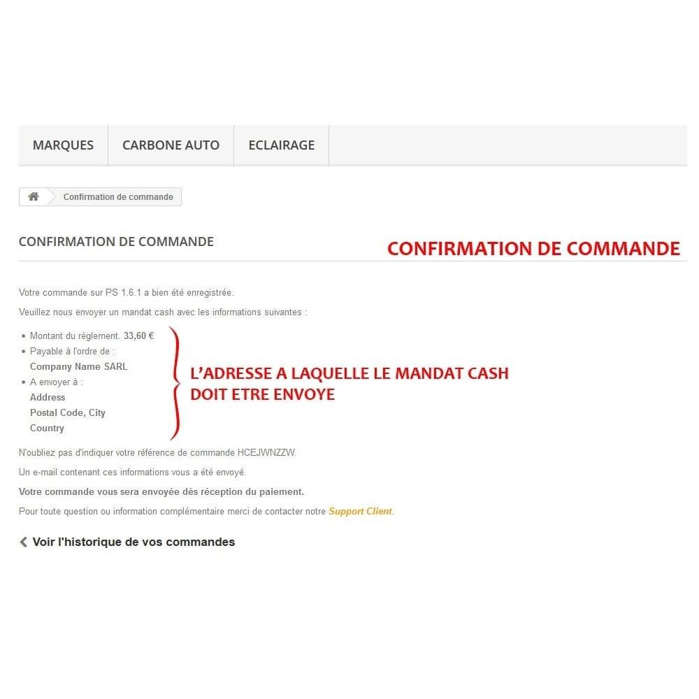 module - Autres moyens de paiement - WK Mandat Cash - 7