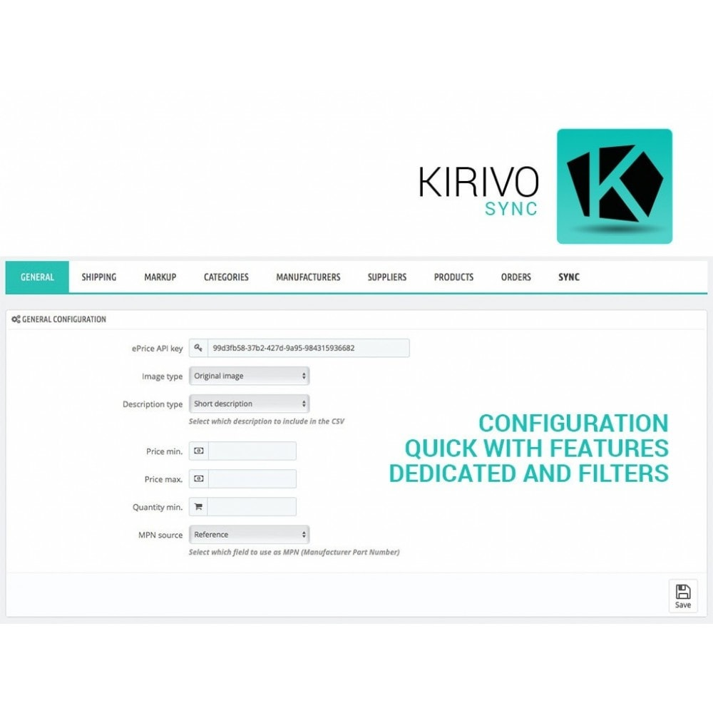 module - Marktplätze - Sync your PrestaShop store with Kirivo marketplace - 2