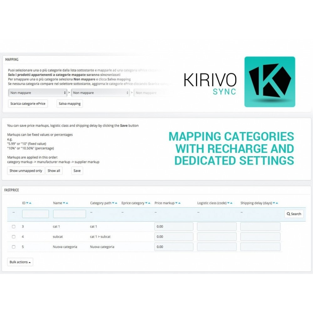 module - Marketplaces - Sync your PrestaShop store with Kirivo marketplace - 5