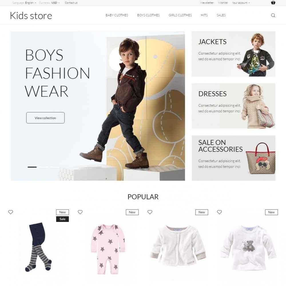 theme - Fashion & Shoes - Kids store - 2