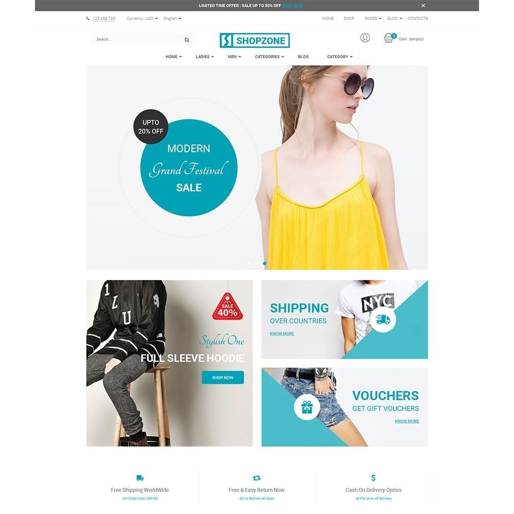theme - Мода и обувь - Shopzone Fashion Store - 2