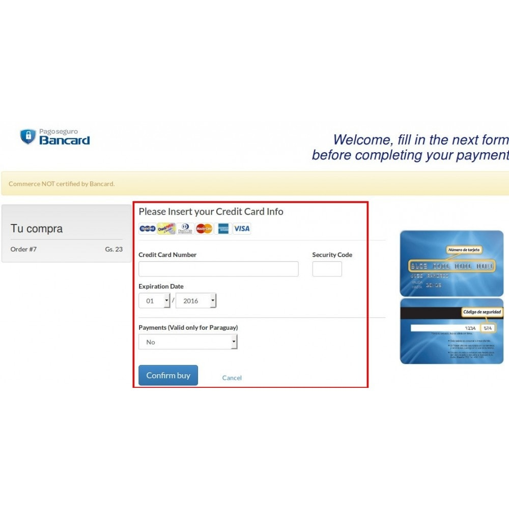 module - Payment by Card or Wallet - Bancard Payment Gateway - 5