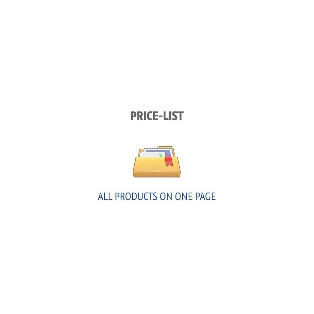 module - Управление ценами - Прайс-лист (все товары на одной странице) - 1