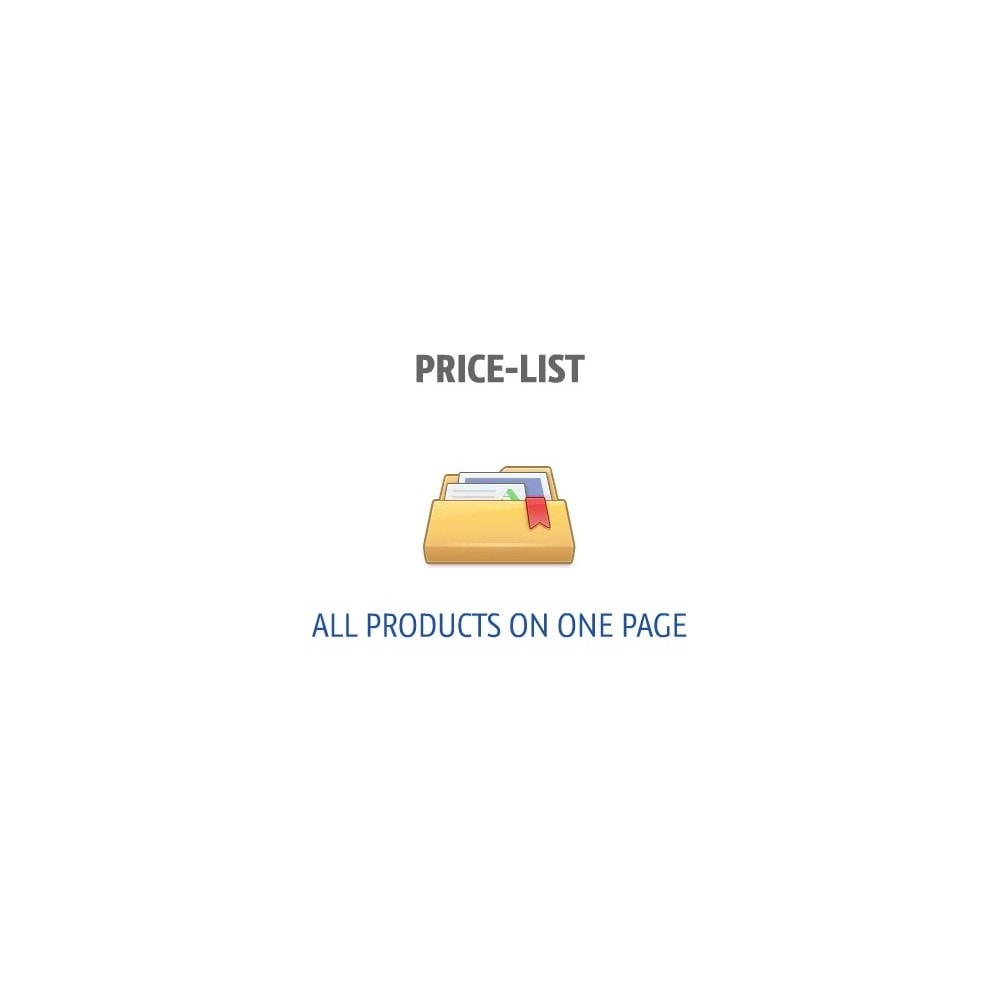 module - Gestión de Precios - Price-list (all products on one page) - 1