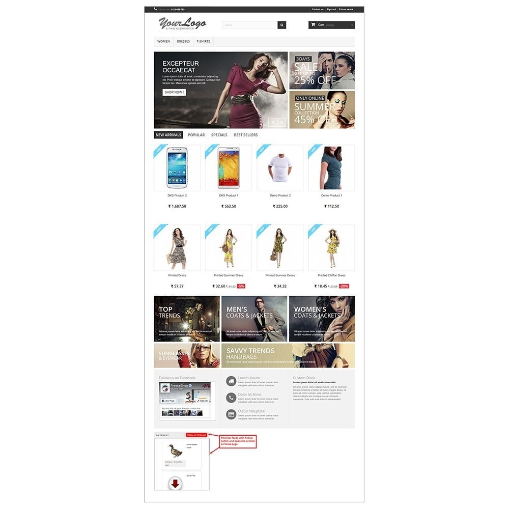 module - Widgets para redes sociales - Pinterest Feeds - 4