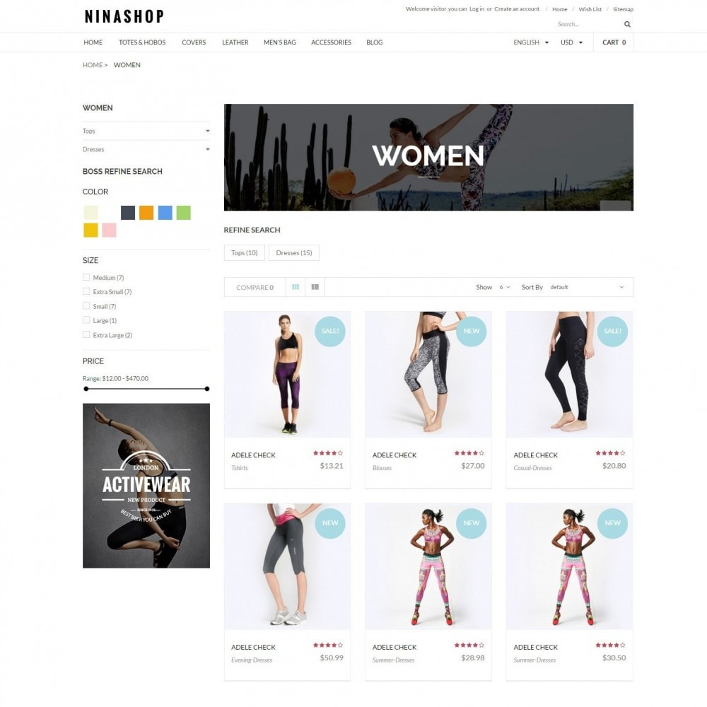theme - Sport, Attività & Viaggi - Ninashop | Sports, Activities & Travel Store - 3