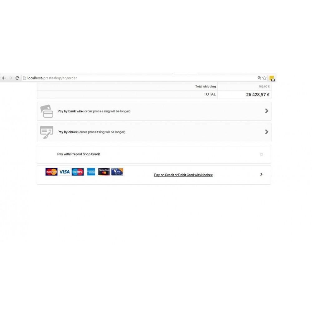 module - Pagamento con Carta di Credito o Wallet - Nochex Payment Services - 2