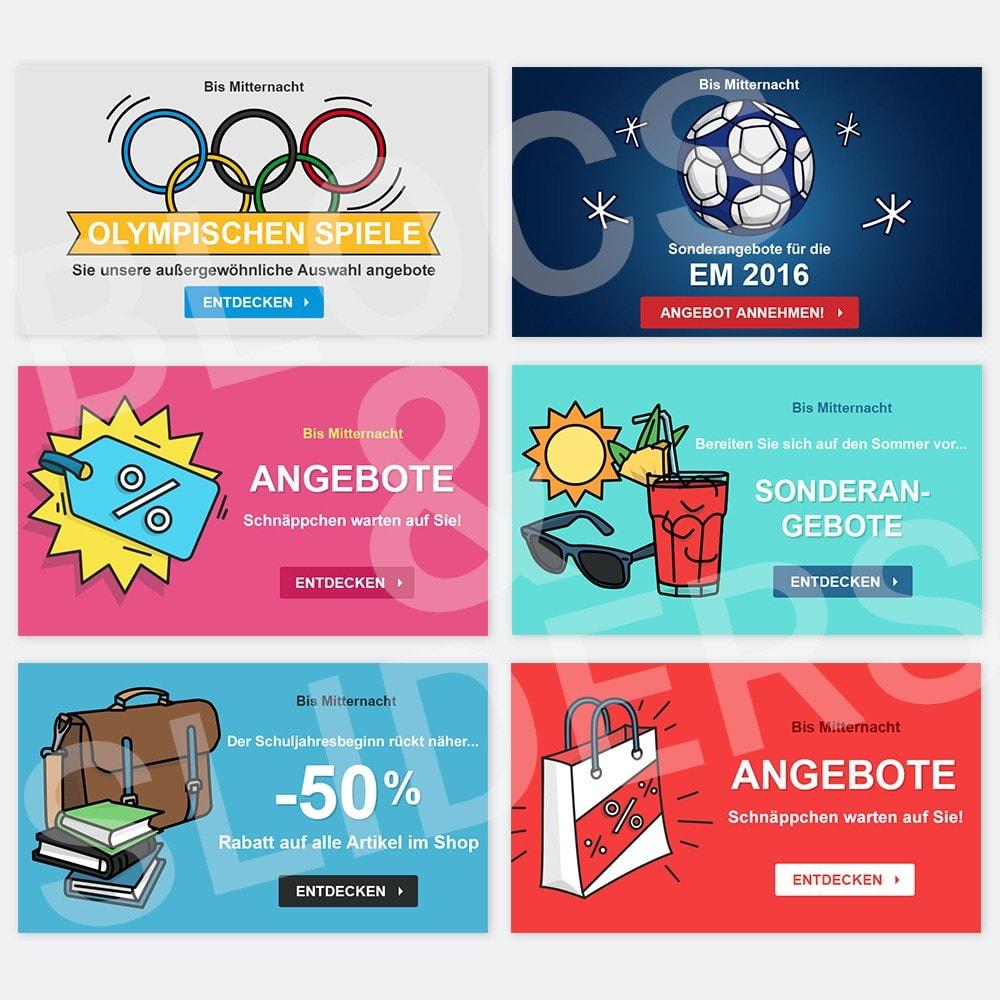 other - Bildmaterial für Online-Aktionen - 12 Werbegrafiken - Sommer - 1