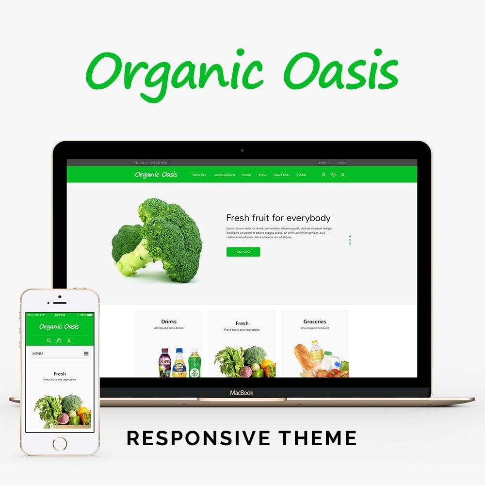 theme - Food & Restaurant - Organic Oasis Store - 1
