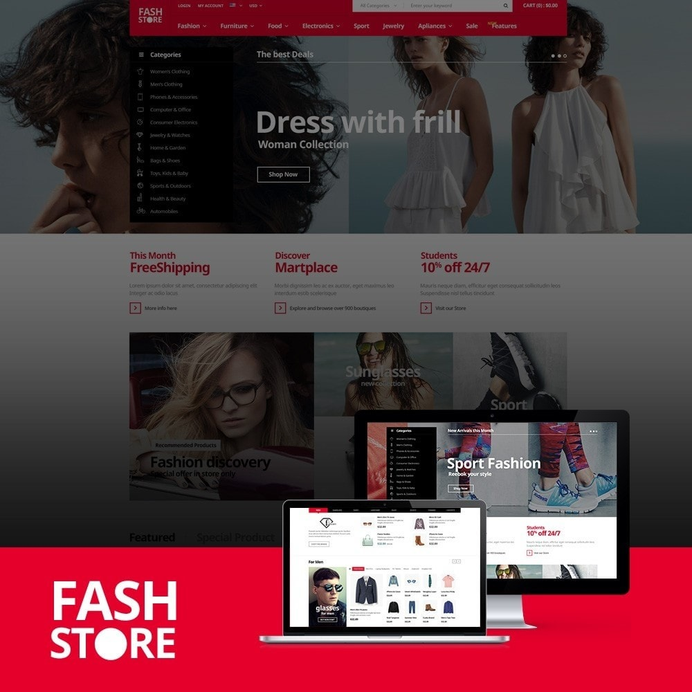 theme - Mode & Chaussures - FashStore - Suppermarket - 1