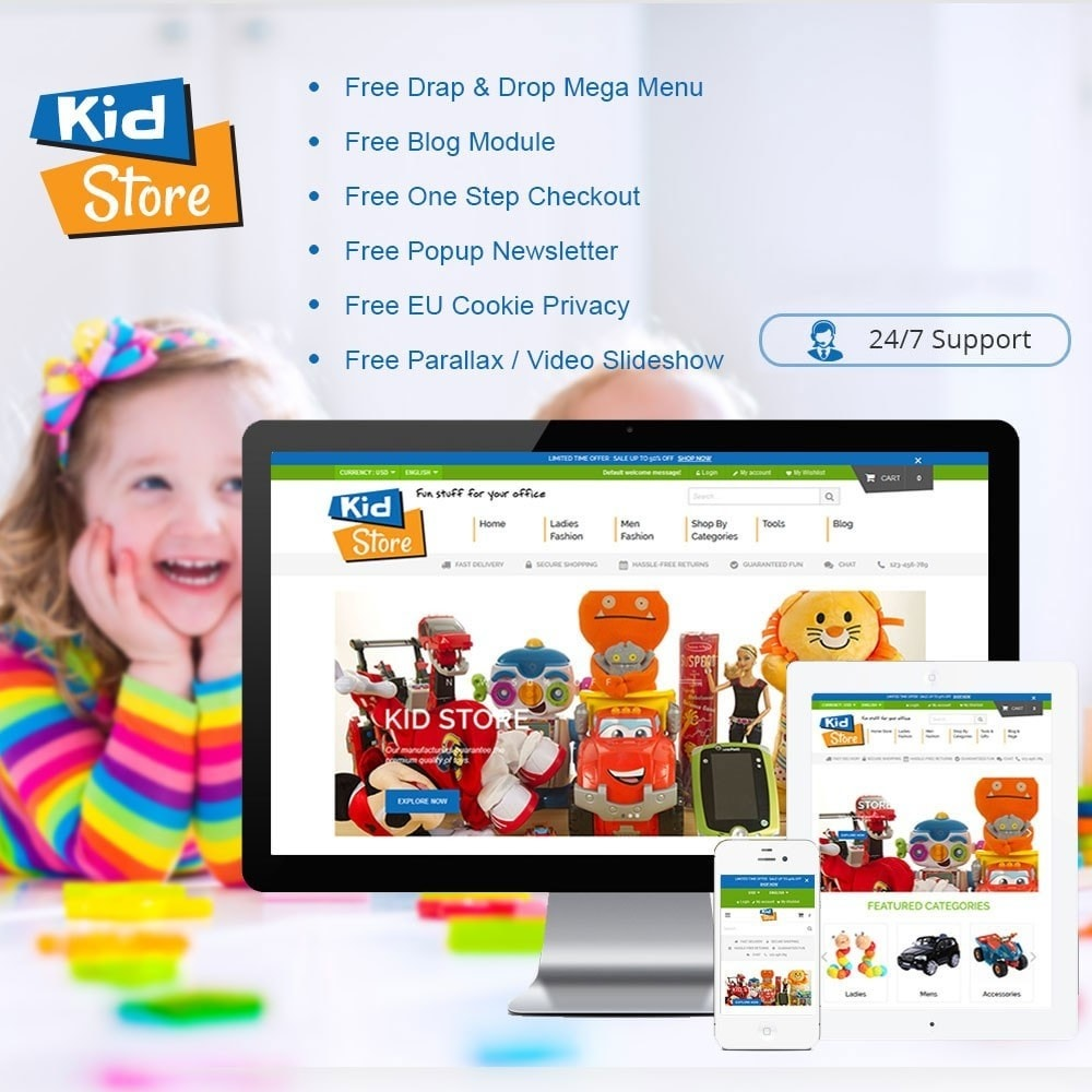 theme - Kids & Toys - Baby Kid Store - 1