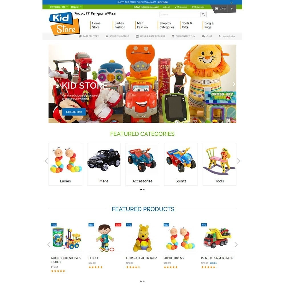 theme - Kids & Toys - Baby Kid Store - 2