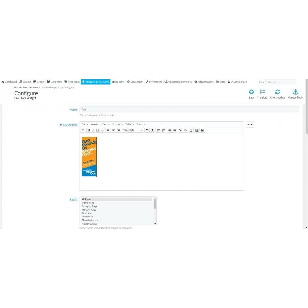 module - Individuelle Seitengestaltung - Era Flyer Widget - 2