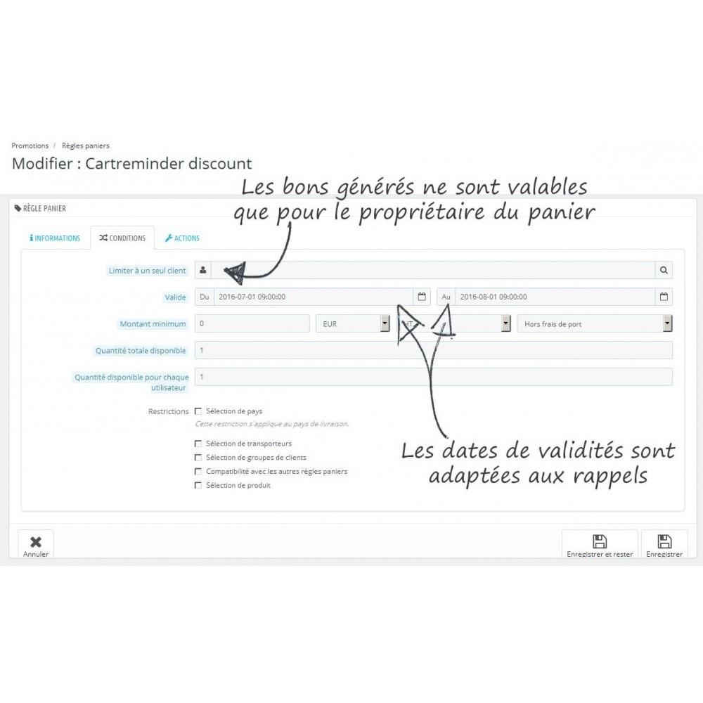 module - Remarketing & Paniers Abandonnés - Rappel de panier personnalisable - 8