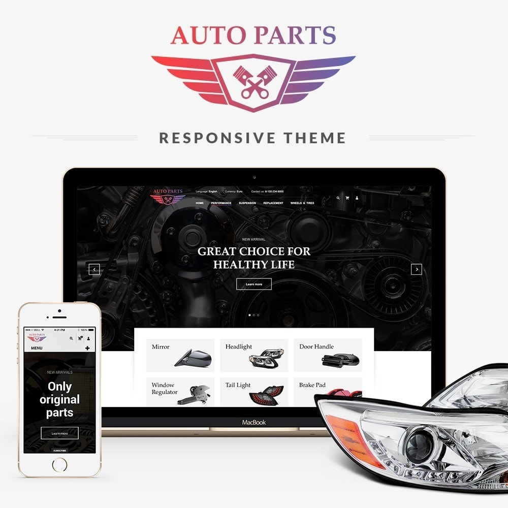 theme - Carros & Motos - AutoParts Store - 1