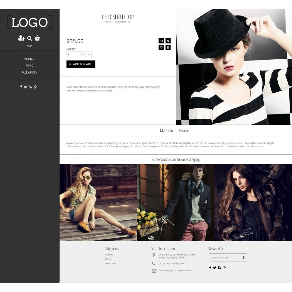 theme - Mode & Chaussures - Alluring - Parallax Masonry Modern - 6