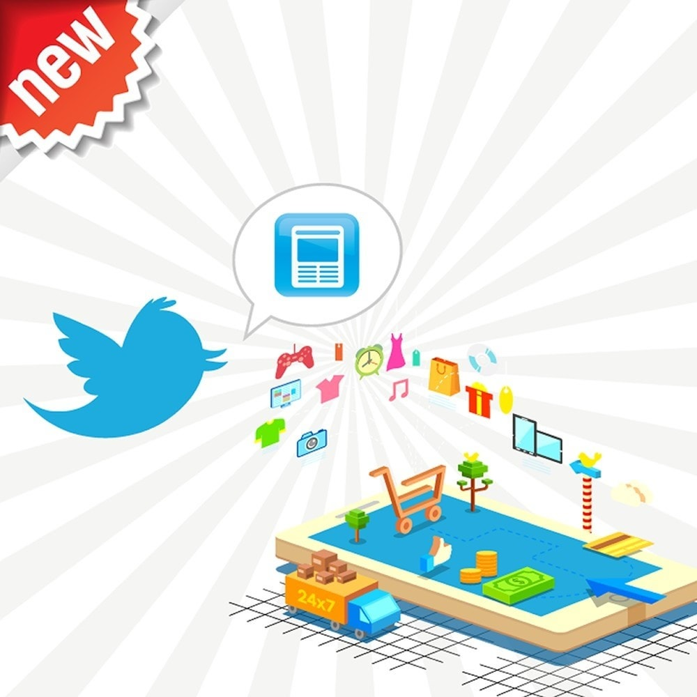 module - Products on Facebook & Social Networks - Twitter Cards + Automatic Product Tweets - 1