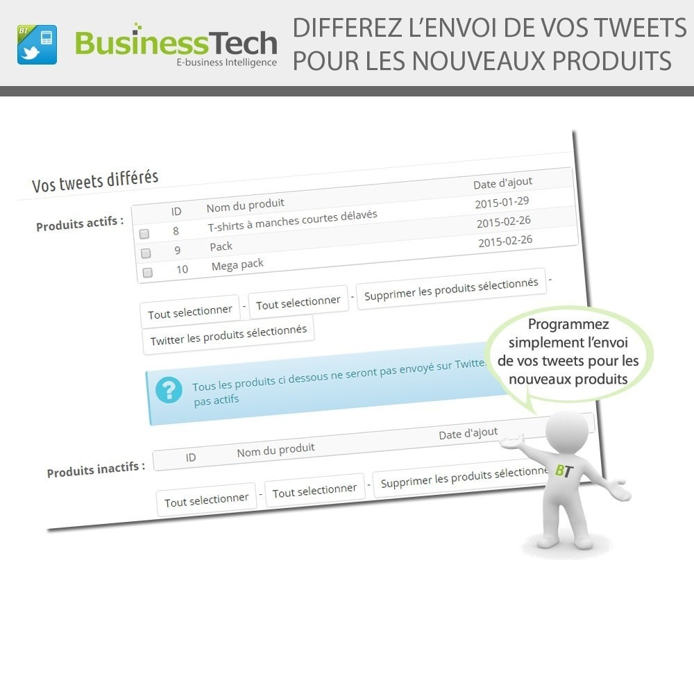module - Produits sur Facebook & réseaux sociaux - Twitter Cards + Tweets de produits automatiques - 7