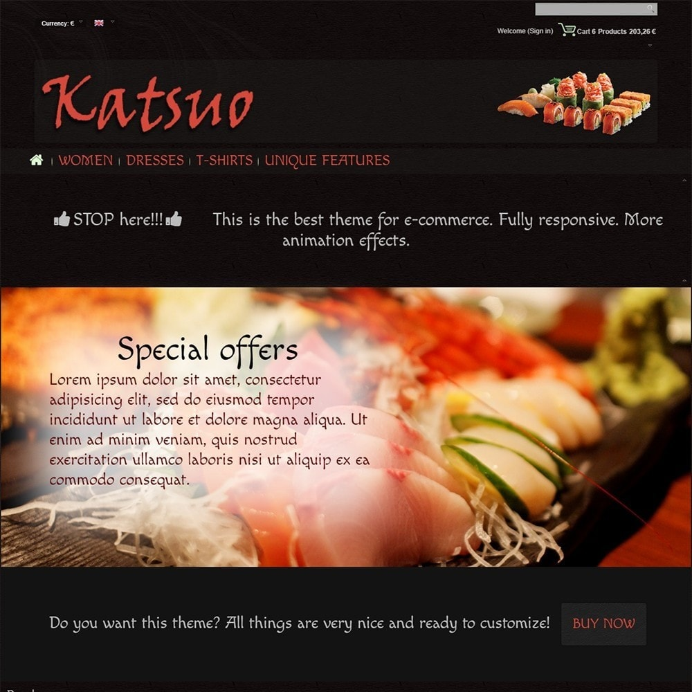 theme - Food & Restaurant - Katsuo - 3