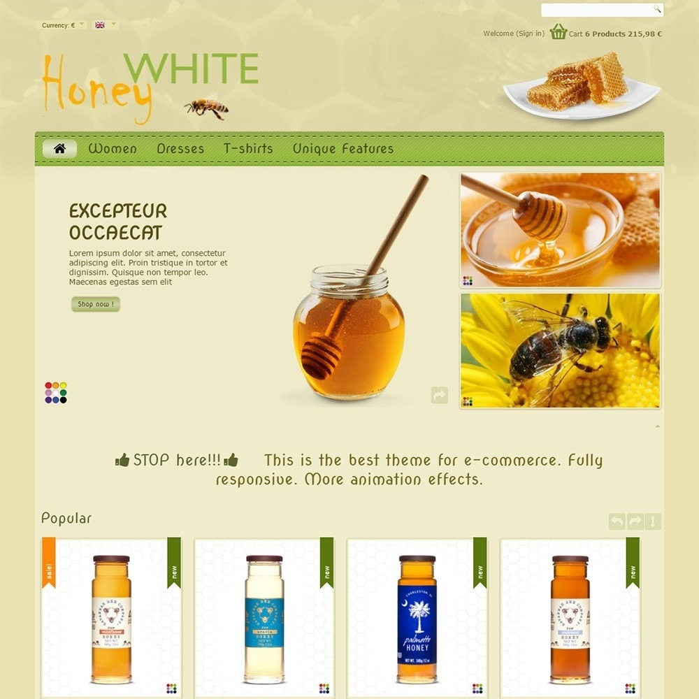 theme - Food & Restaurant - White Honey - 3