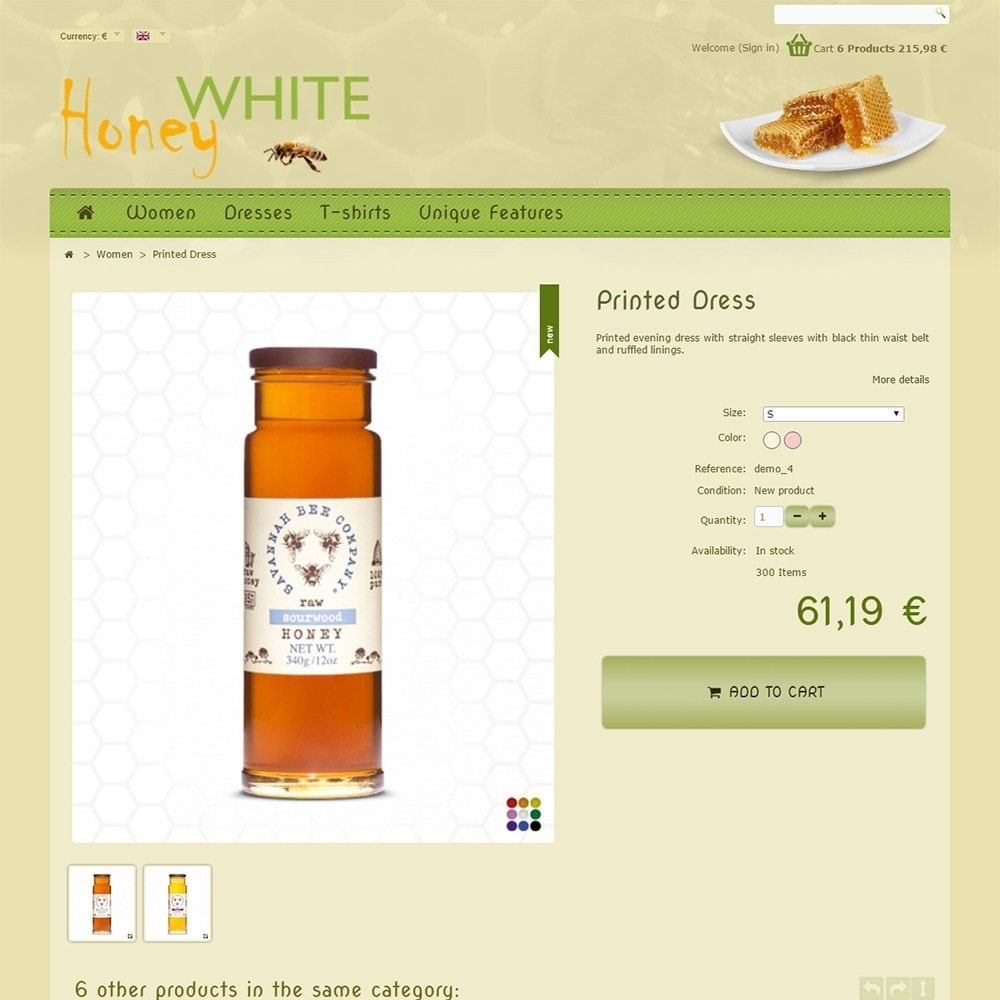 theme - Alimentation & Restauration - White Honey - 5