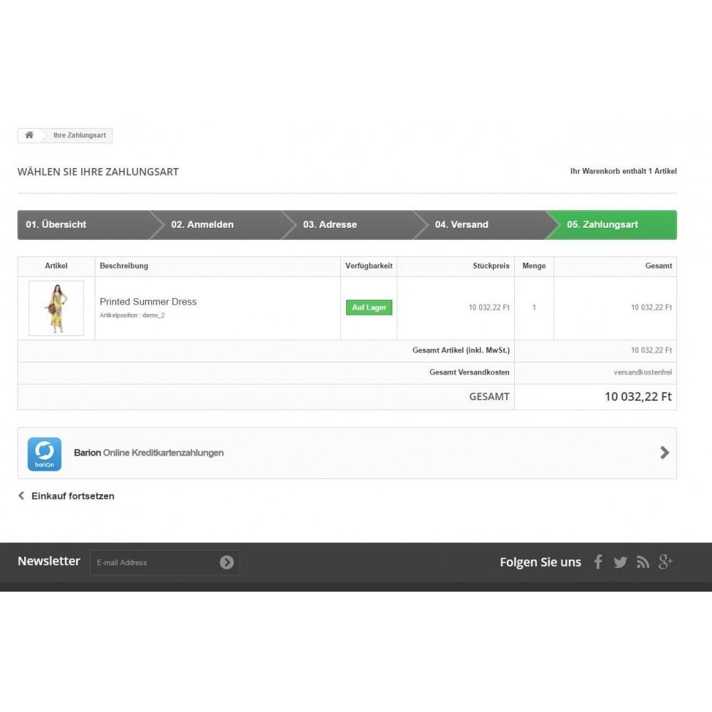 module - Zahlung per Kreditkarte oder Wallet - Barion - Online Kreditkartenzahlungen - 1