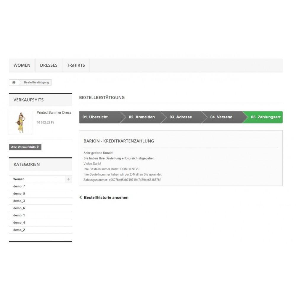 module - Zahlung per Kreditkarte oder Wallet - Barion - Online Kreditkartenzahlungen - 2
