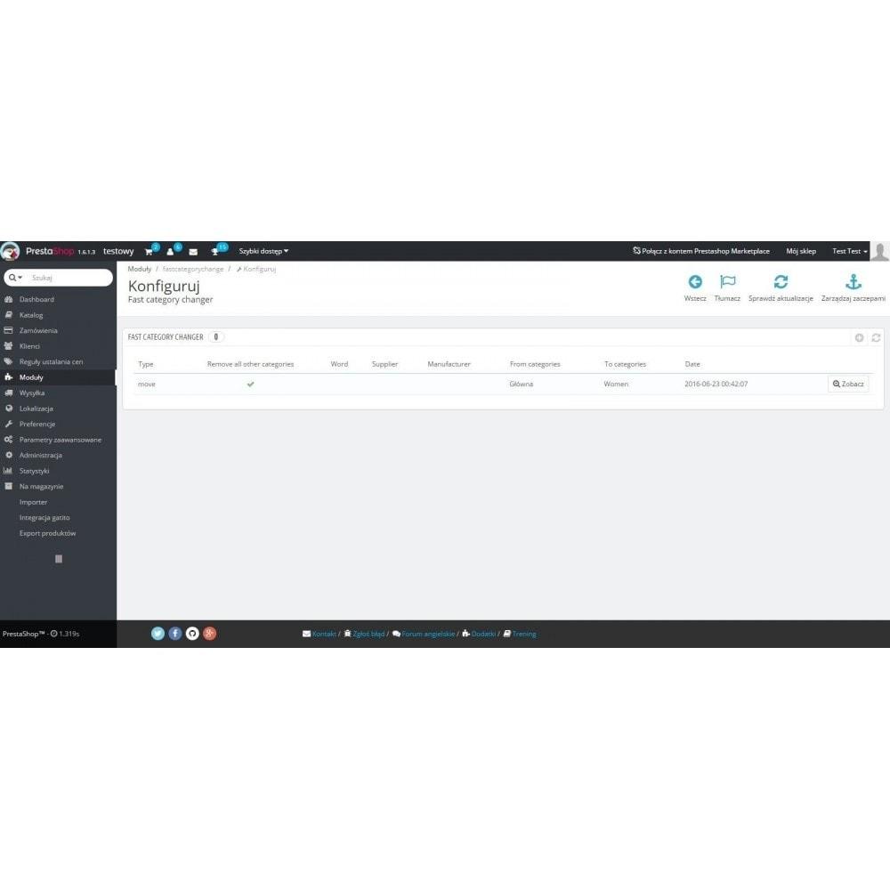 module - Szybkie & Masowe edytowanie - Szybka zmiana kategorii / masowa edycja kategorii - 3