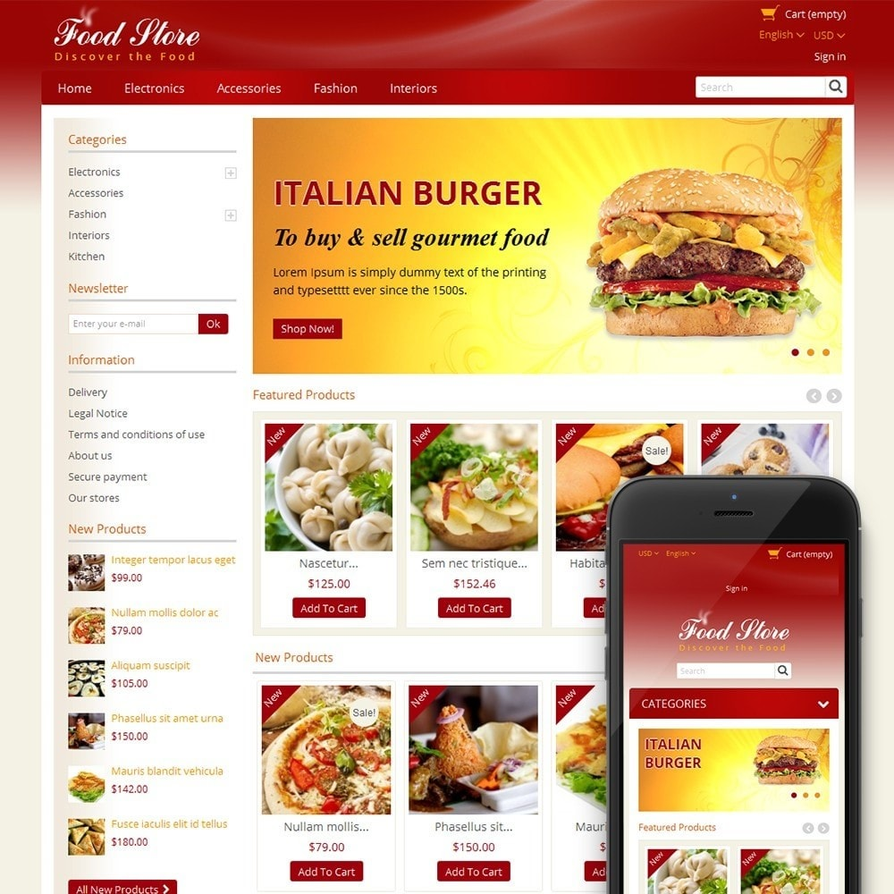 theme - Alimentos & Restaurantes - Fresh Food Store - 1