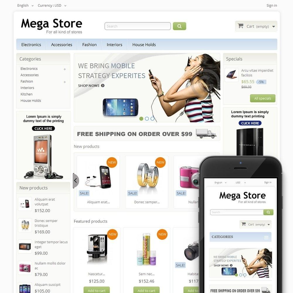 theme - Electrónica e High Tech - Blue Mega Store - 1