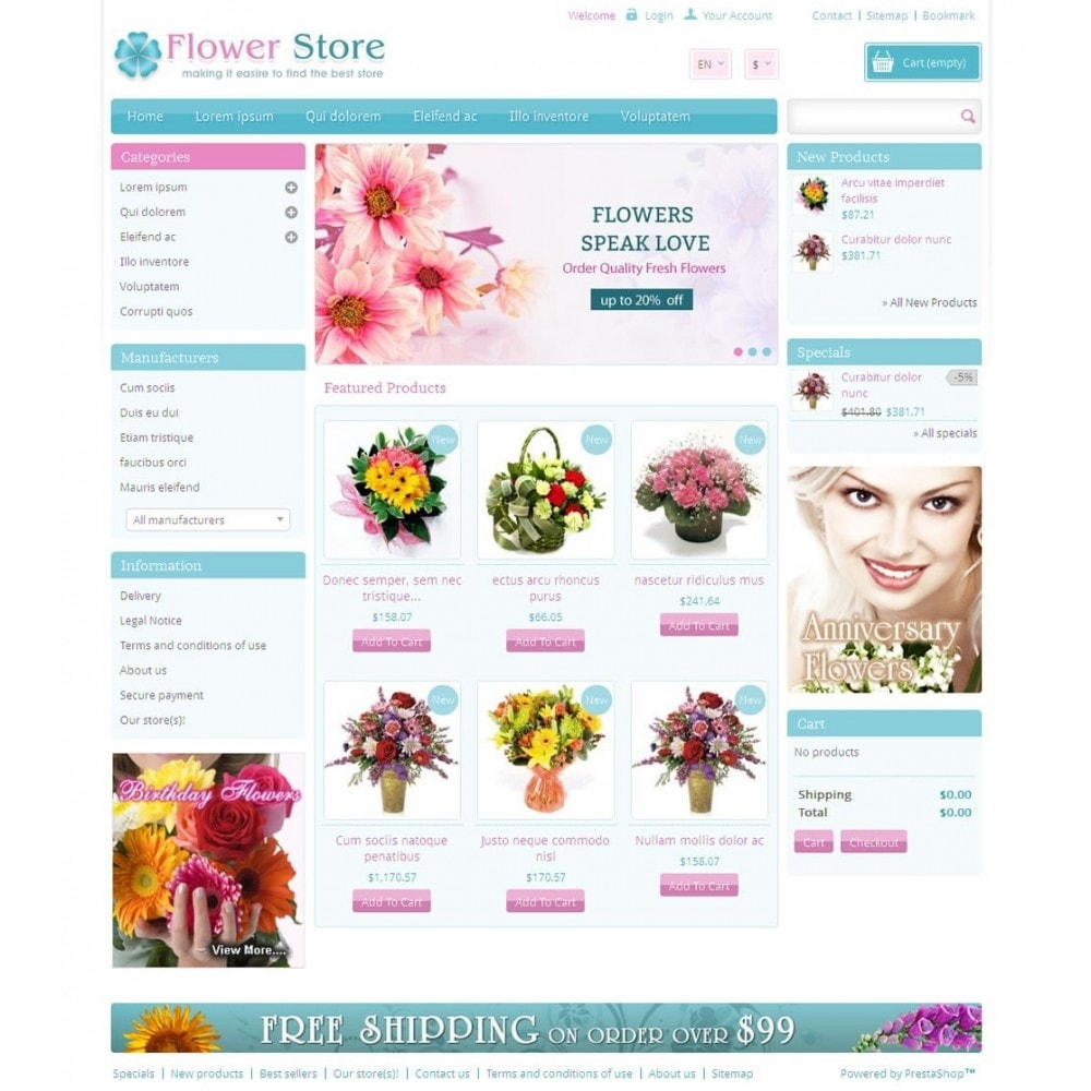 theme - Gifts, Flowers & Celebrations - Pinky - Flower Store - 2