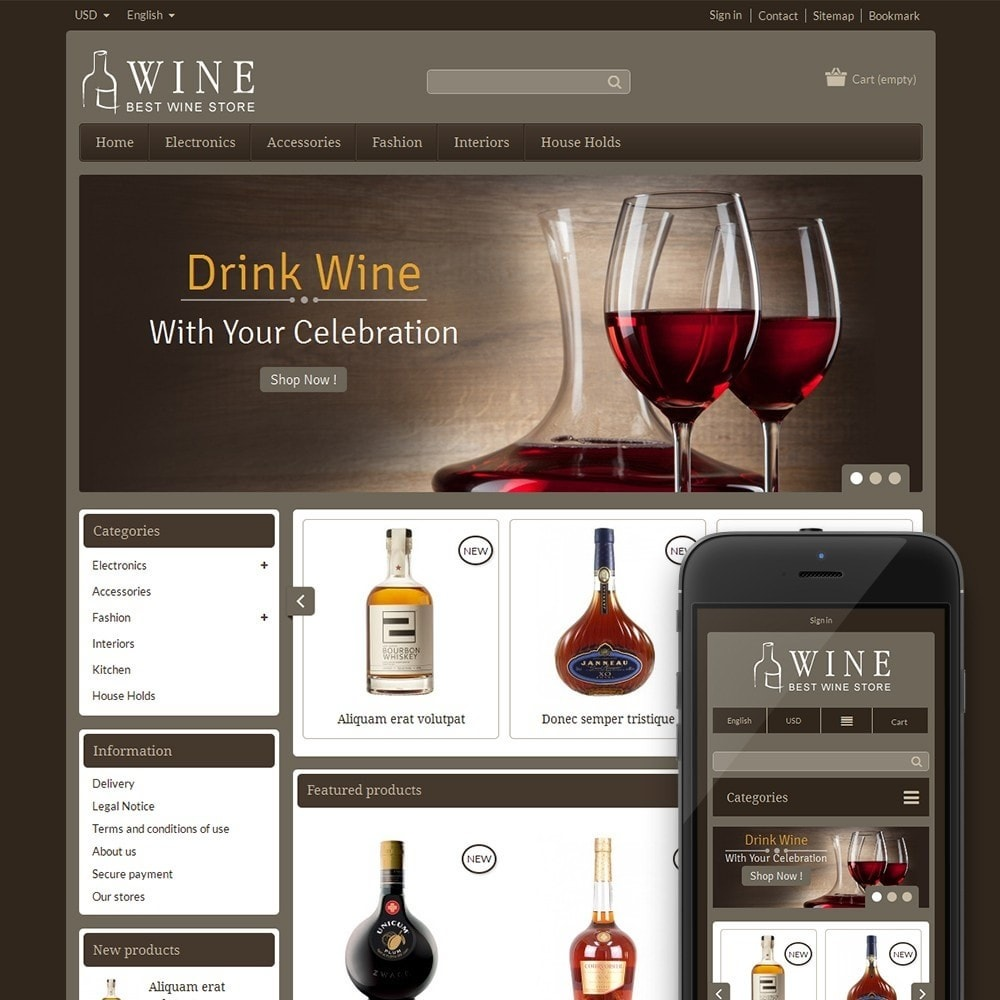 theme - Boissons & Tabac - Online Wine Shop - 1