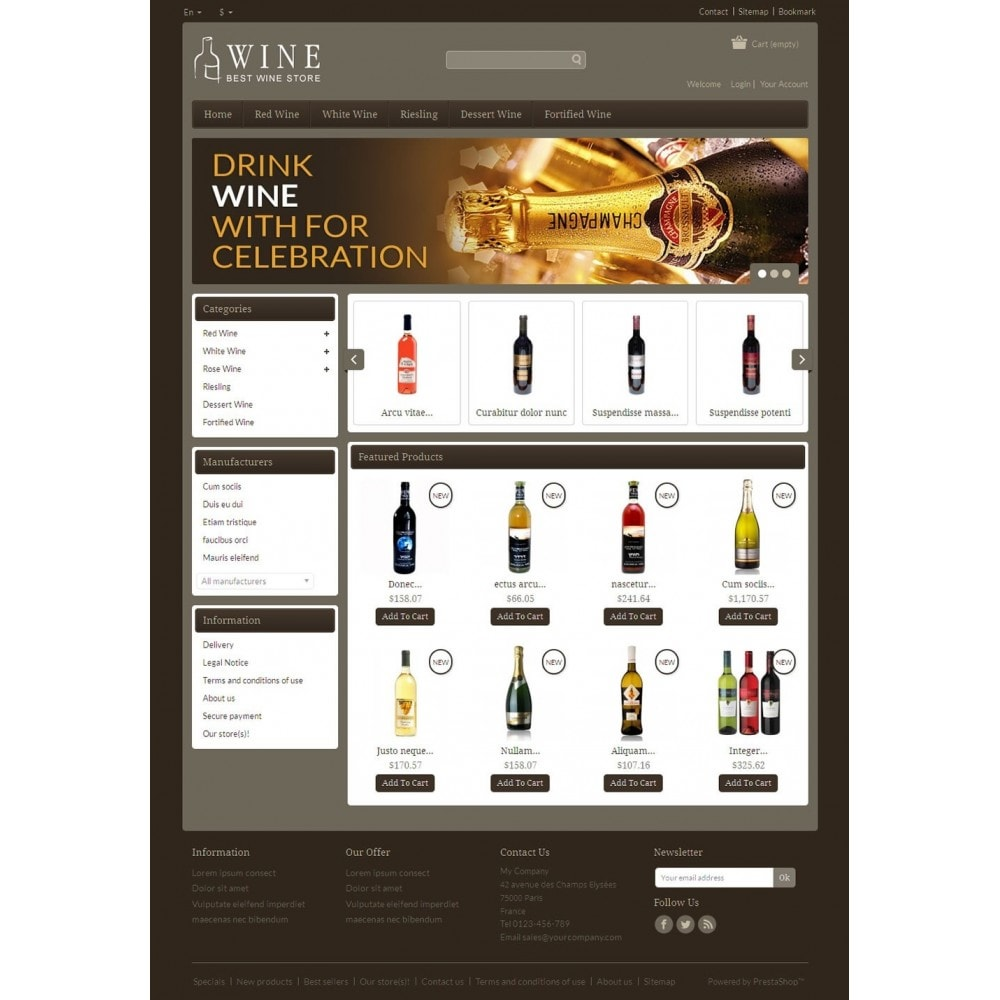 theme - Drink & Wine - Online Wine Shop - 2