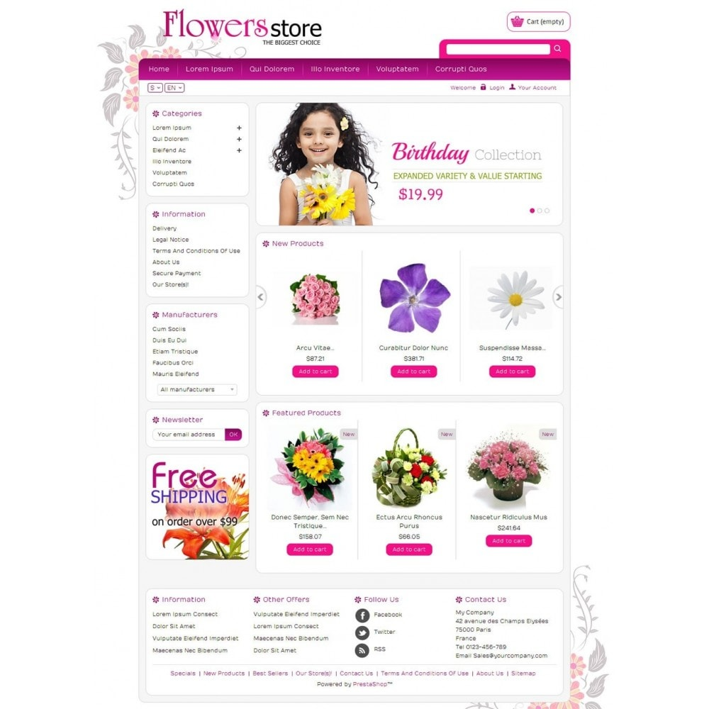 theme - Regalos, Flores y Celebraciones - Biggest Flower Store - 2