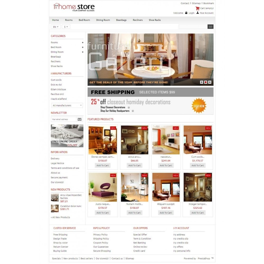 Home Furnitures Store